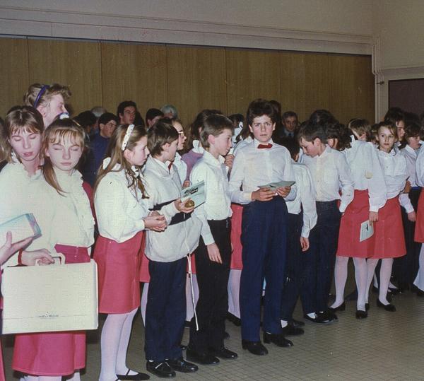 1989 Accueil des chœurs d'enfants de Varsovie