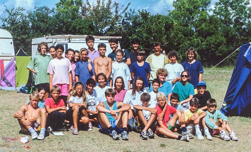 1992 Cinq jeunes polonais sont accueillis au camp ACV