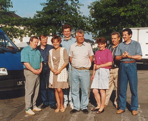 1994 séjour d'une délégation d'agriculteurs polonais à la Chapelle